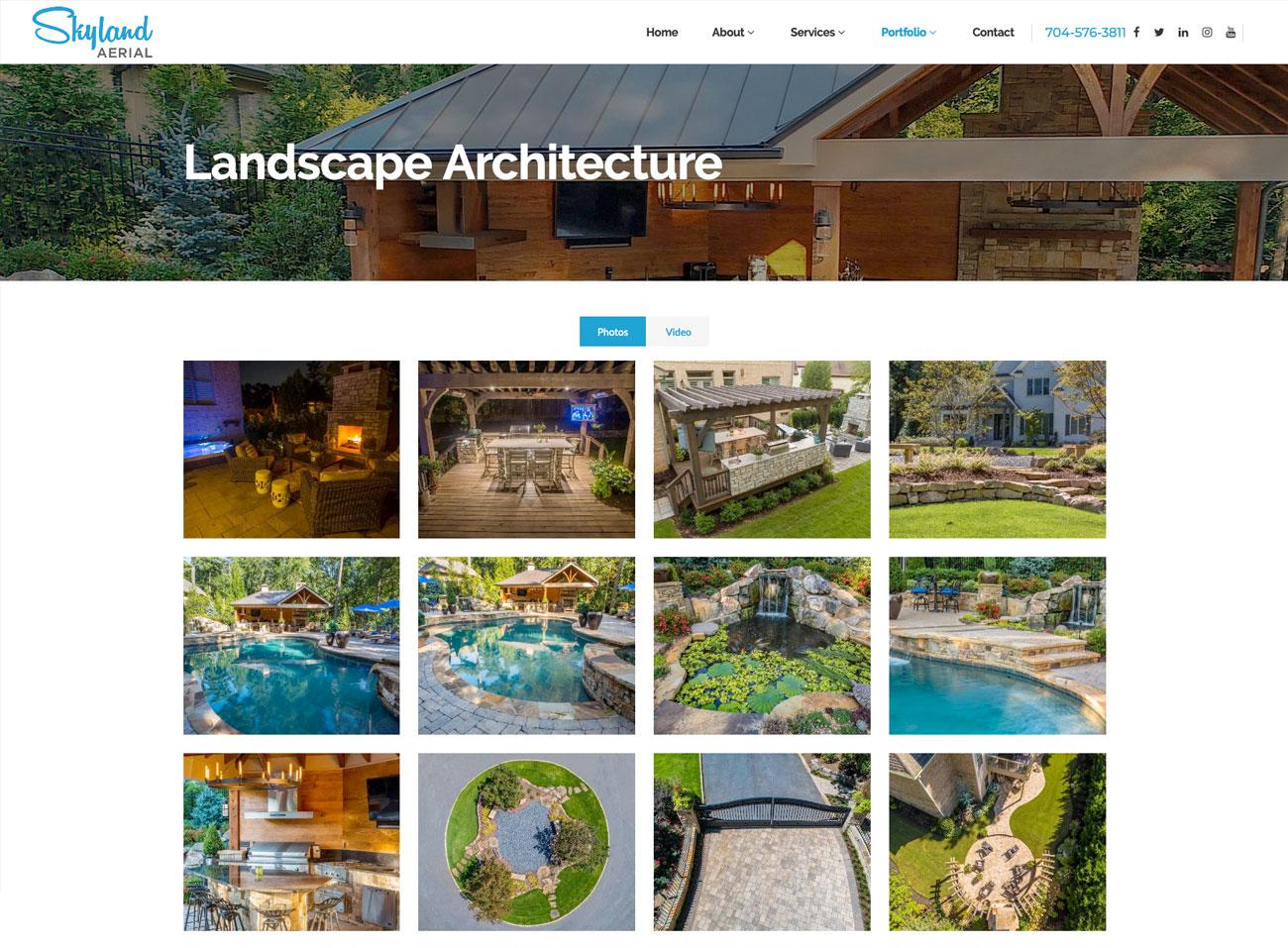 Skyland Aerial Website